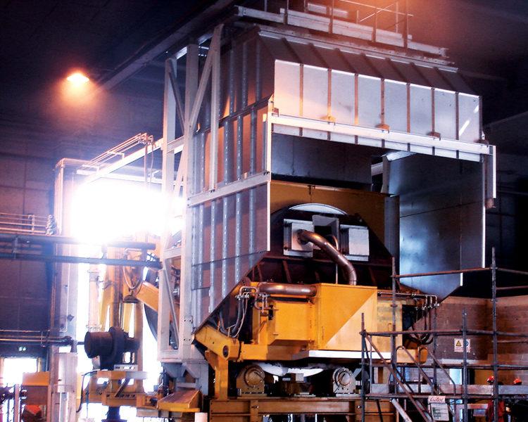 Lafond Pere et Fils Rive de Gier Loire Construction mecanique Installation d'un four rotatif